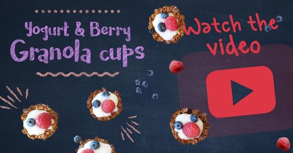 Yogurt & Berry Granola Cups Recipe Video