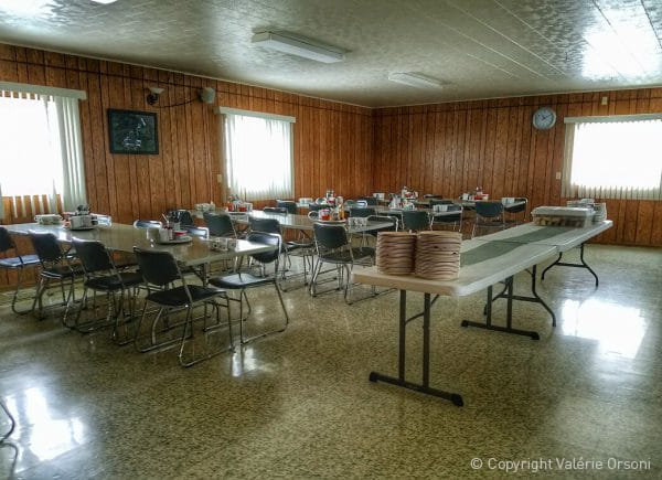 Hutterite colony dining room