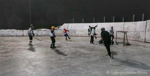 Hutterite hockey game