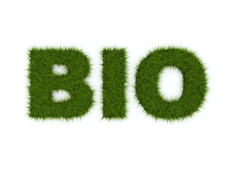 Bio sign from grass isolated on white