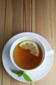 Lemon Tea with Mint Leaves
