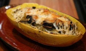 Spaghetti Squash with Crimini Mushrooms