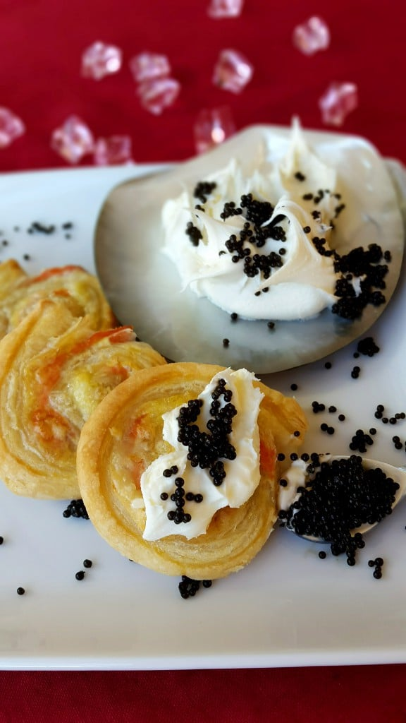 Salmon Puff Pastry with Caviar