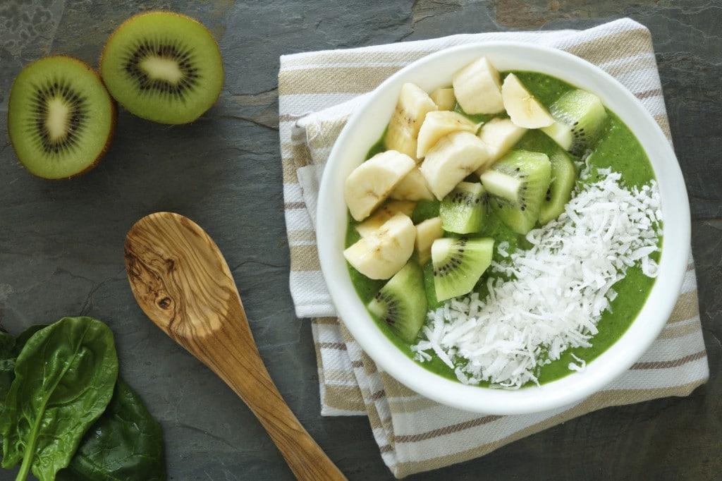 Spinach Kiwi Smoothie Bowl