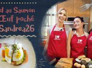 Nouvelle recette filmée : Bagel saumon et œuf poché de Sandre26france