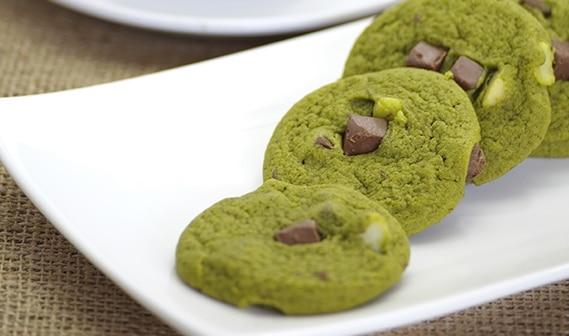 Chocolate Chip Matcha Cookies