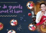 Recette filmée : Cup de granola au yaourt et baies