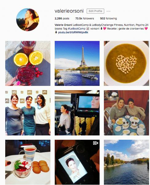 Valerie Orsoni Instagram