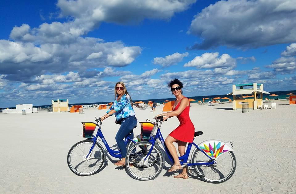 vélo avec Tracy a South Beach