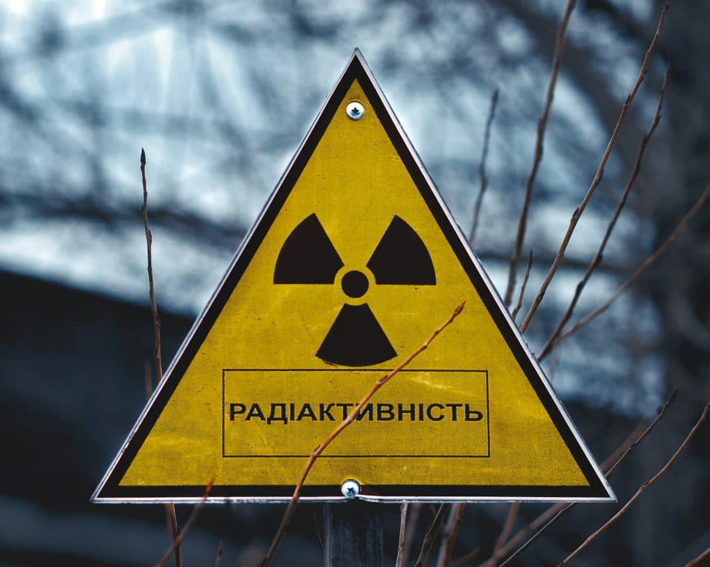 Sign of radioactivity