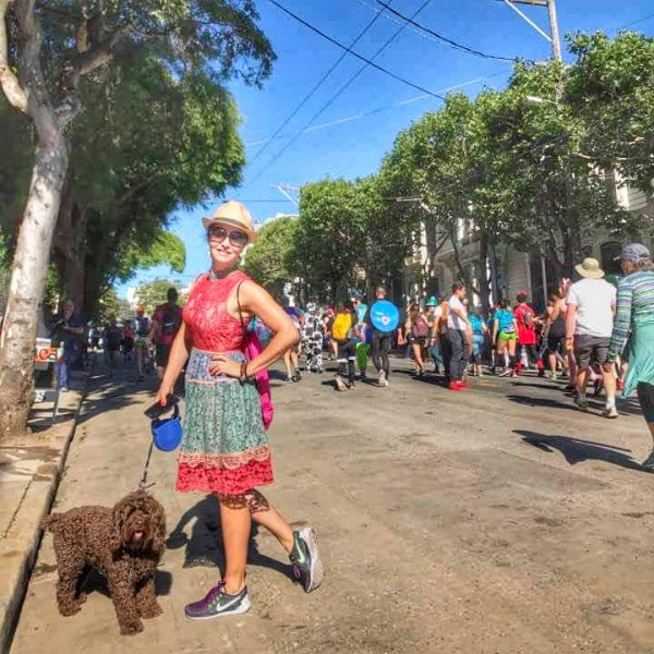 Valerie Orsoni at Bay to Breakers