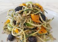 Spaghettis de courgettes et pesto d'été