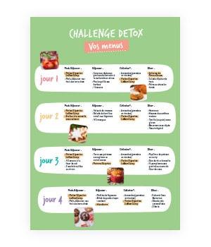 challenge detox et menus de Noël