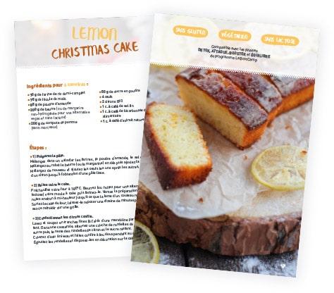 recette lemon christmas cake