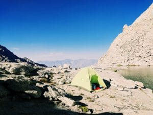 tents - climbing Mount Whitney