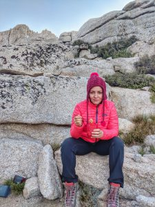 Valerie Orsoni at Lone Pine - mountain climbing