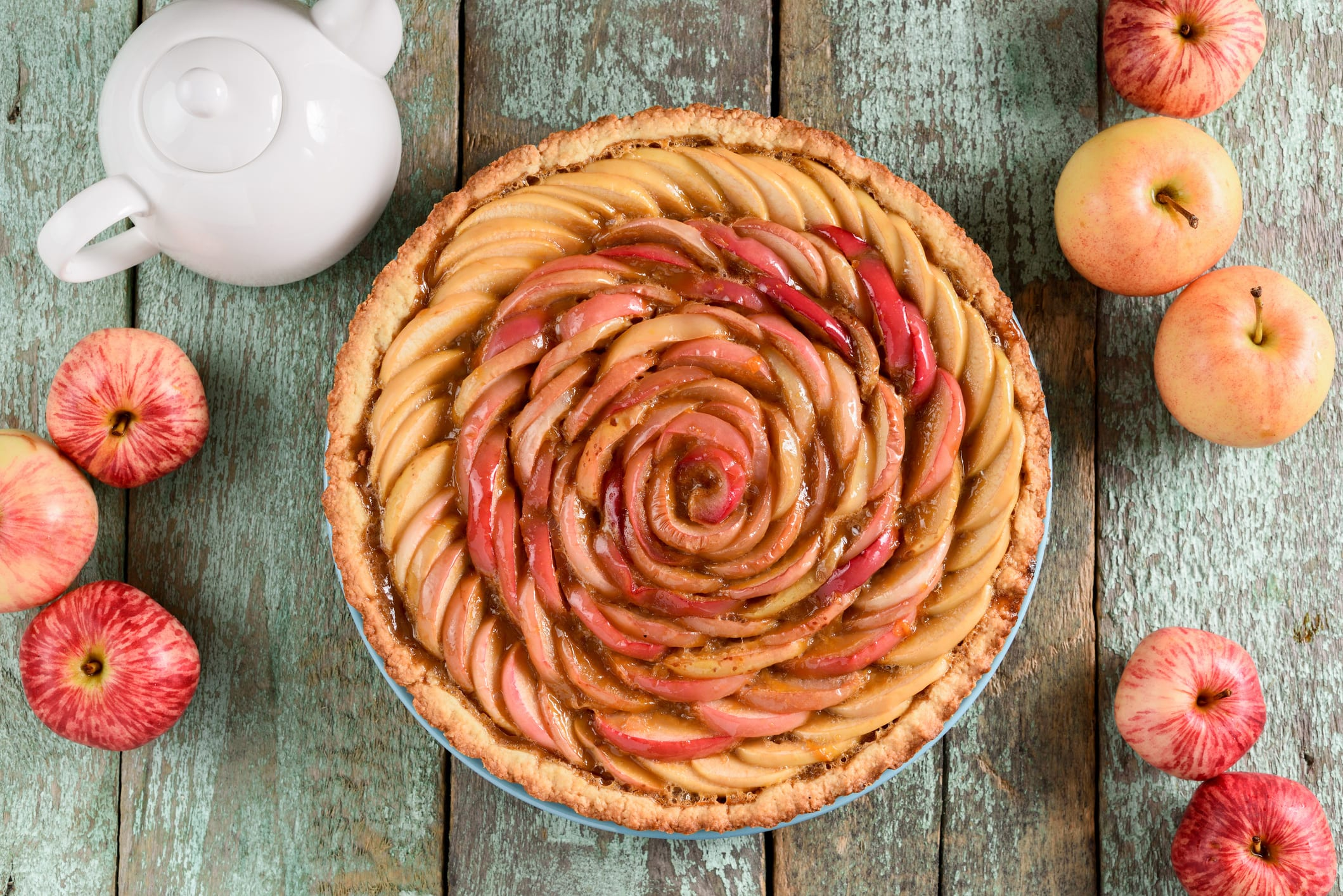 tarte pomme rouge